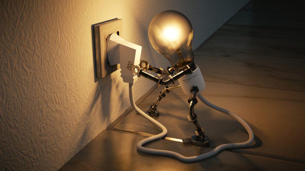 Missing light, plug-in bulb
